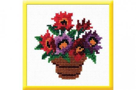 Схемы вышивок ваз для цветов 946