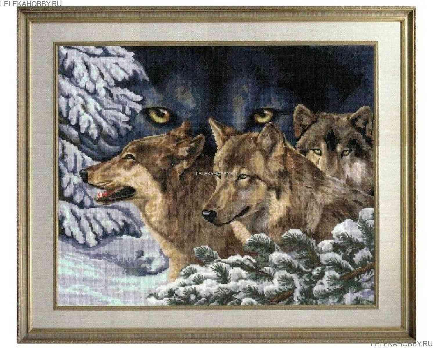 Вышивка крестом волчий взгляд