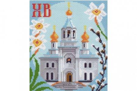 Рисунок вышивки церковь