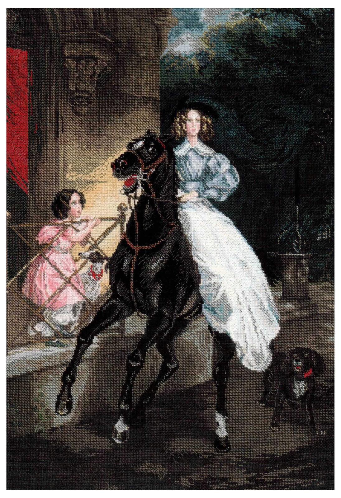 Всадница картина брюллова вышивка крестом