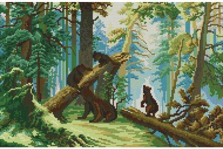 Мишки в лесу вышивка и не только