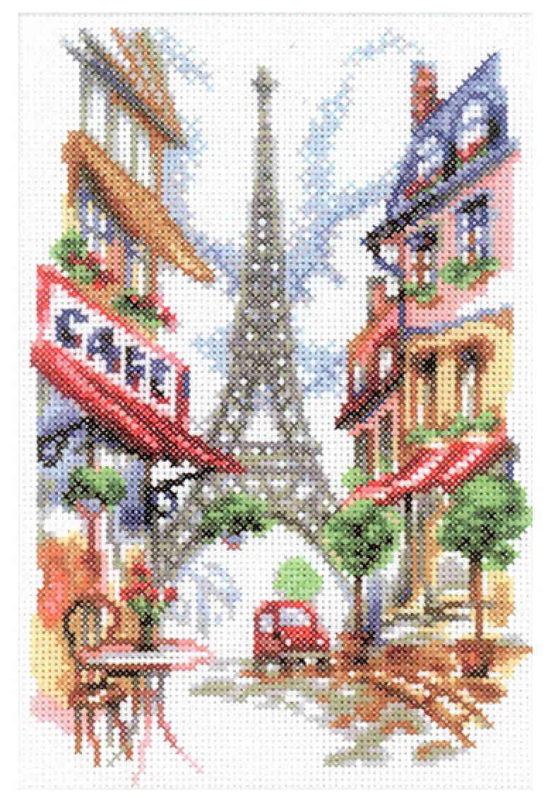 Вышивка крестом на тему париж