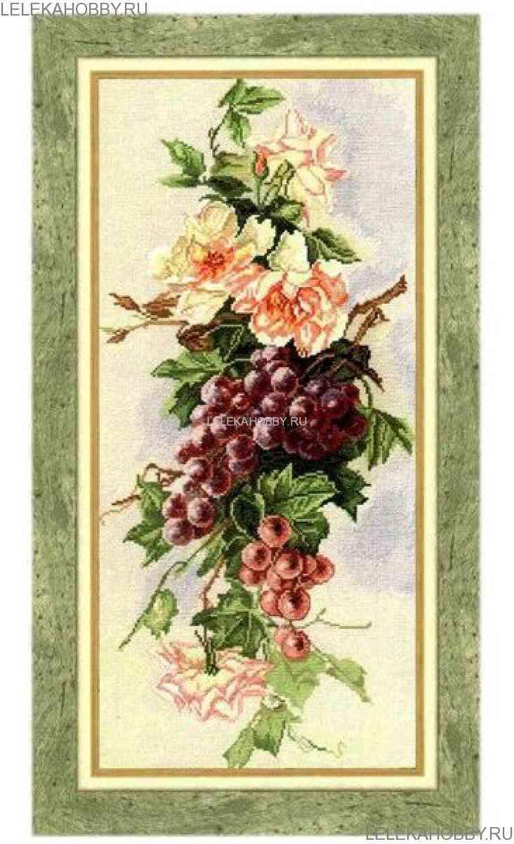 Набор для вышивки крестом виноград 287