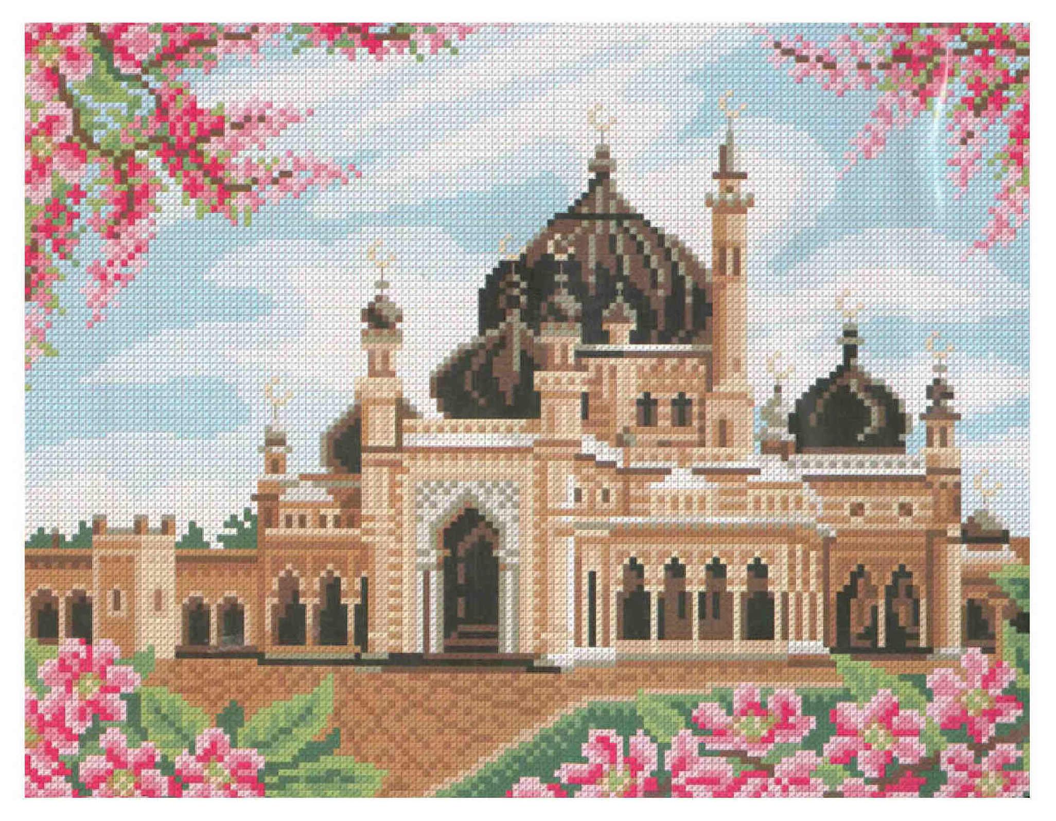 Схем а вышивки мечети 791