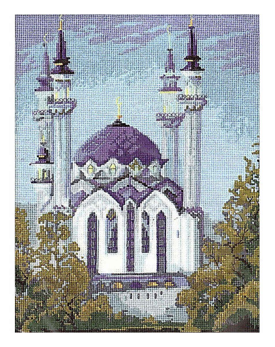 Вышивка крестом мечети фото