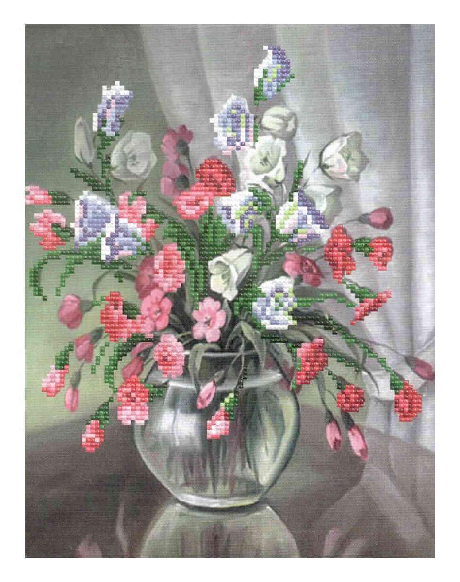 Вышивка бисером цветы матренин посад 75