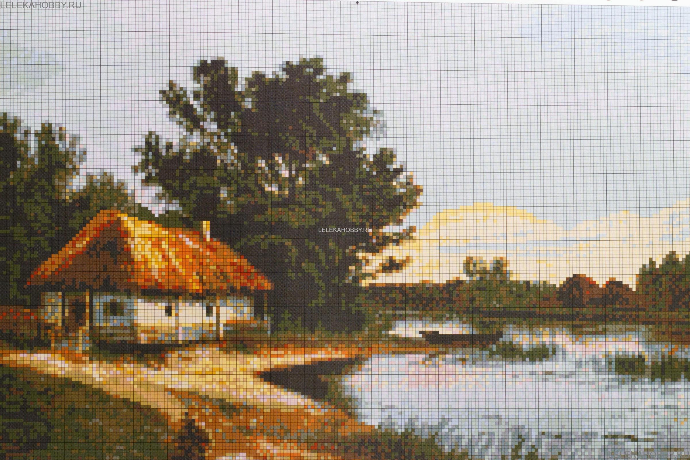 Вышивка крестом деревенька моя схемы