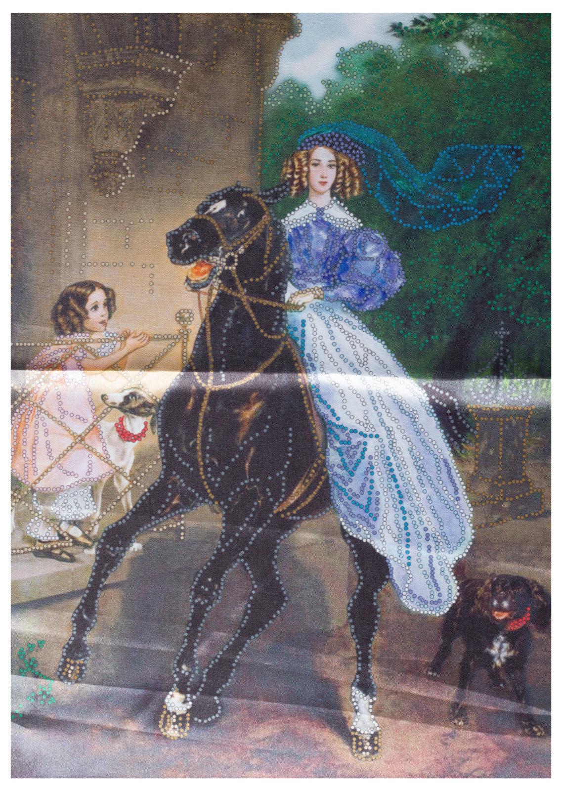 Всадница картина брюллова вышивка крестом 97