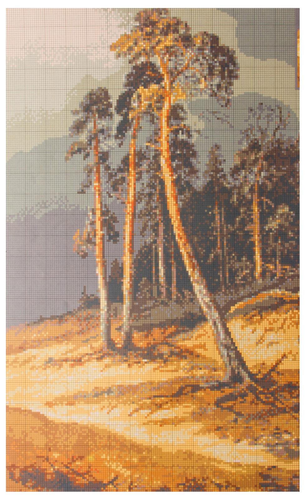 Вышивка крестом шишкин перед грозой