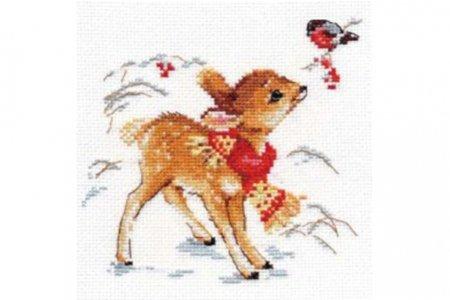 Вышивка крестом олененок