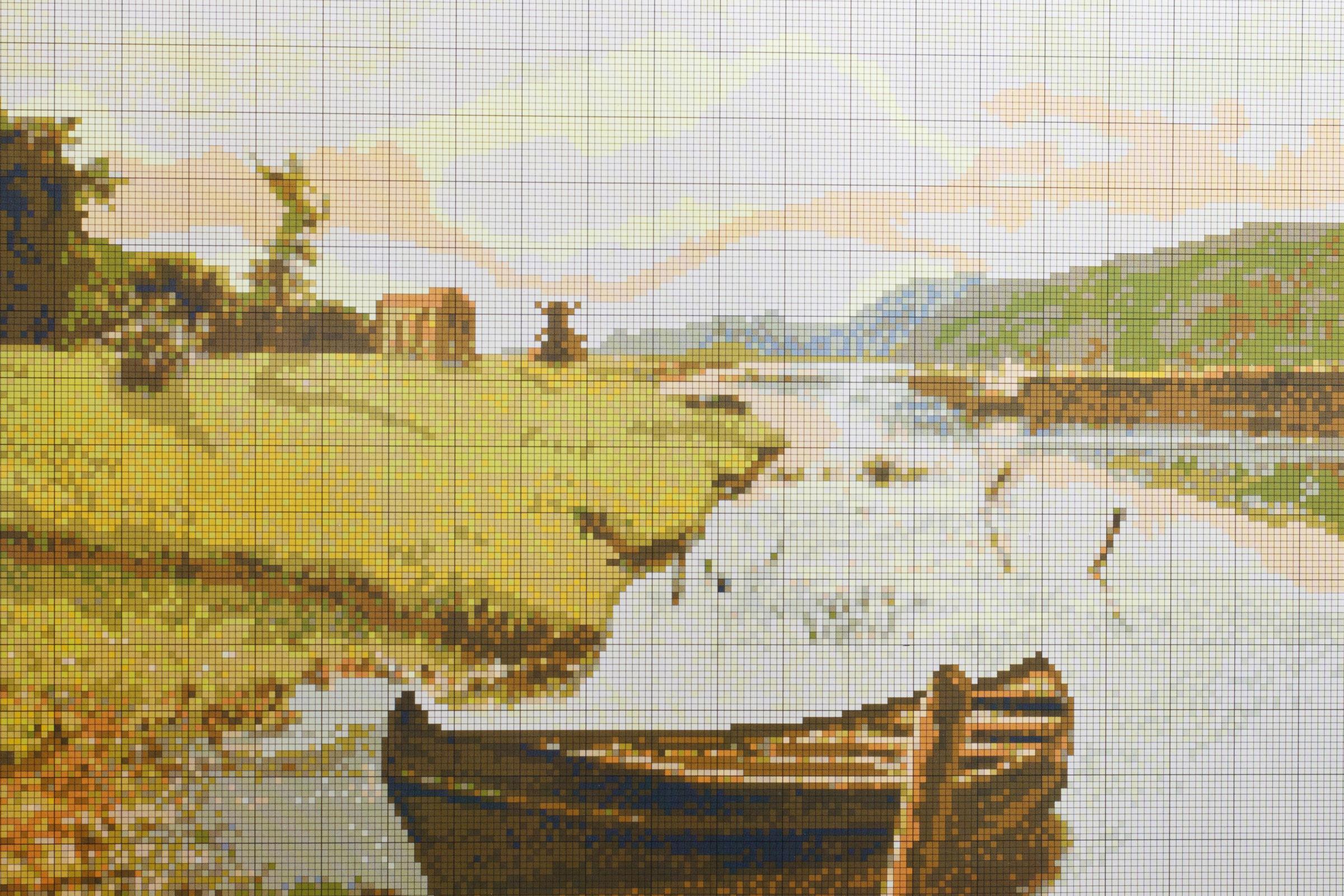 вышивка у реки искусница схема