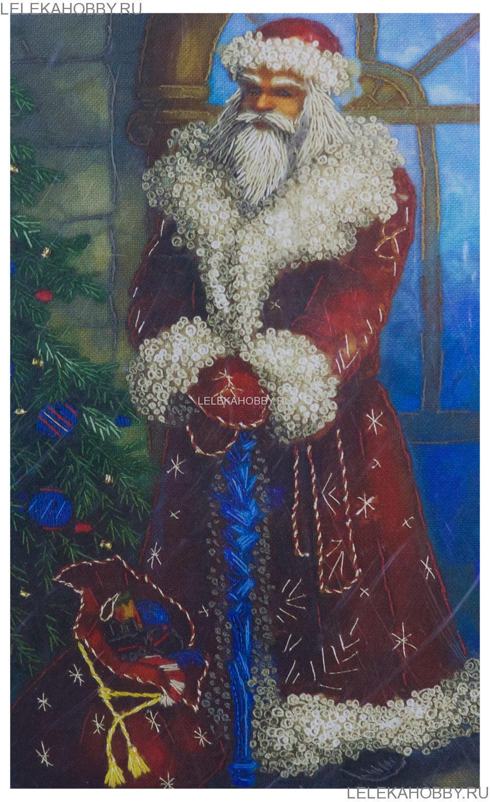 Панна открытка дед мороз, надписью