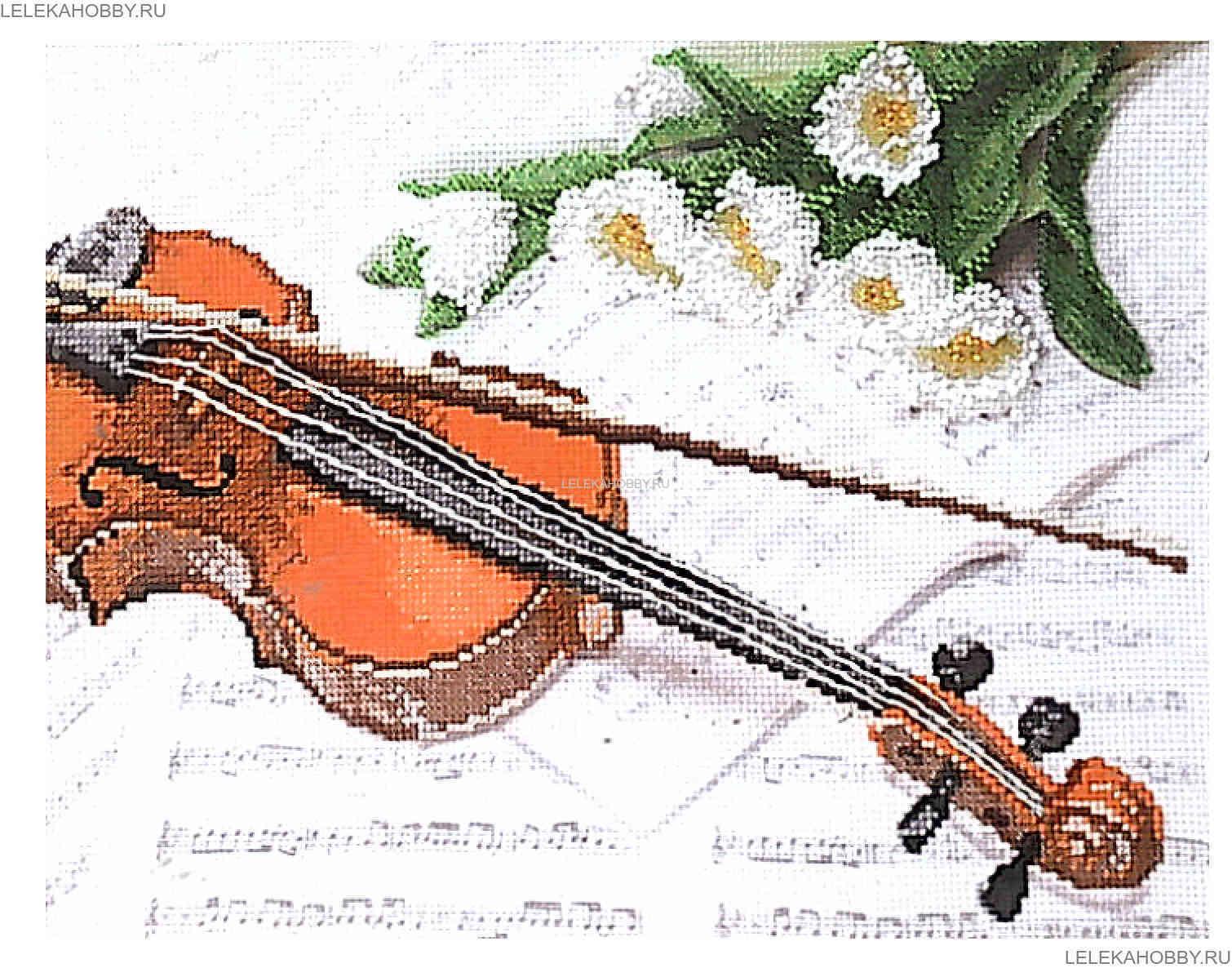 Схема для вышивки бисером музыка