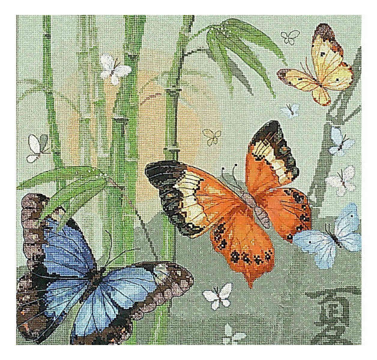 Вышивка картин бабочки
