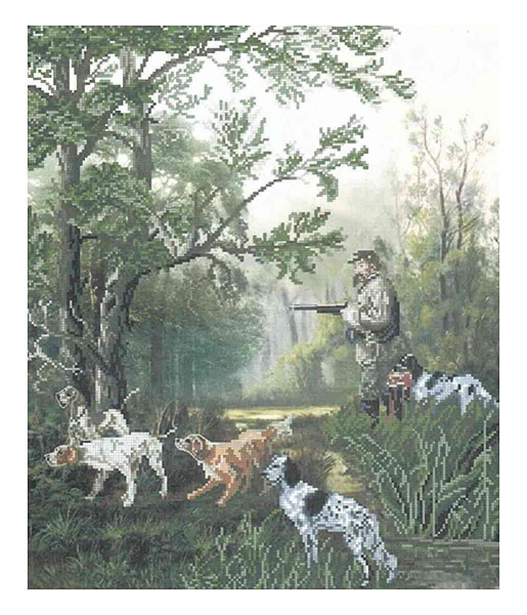 Алмазная вышивка охотники на привале