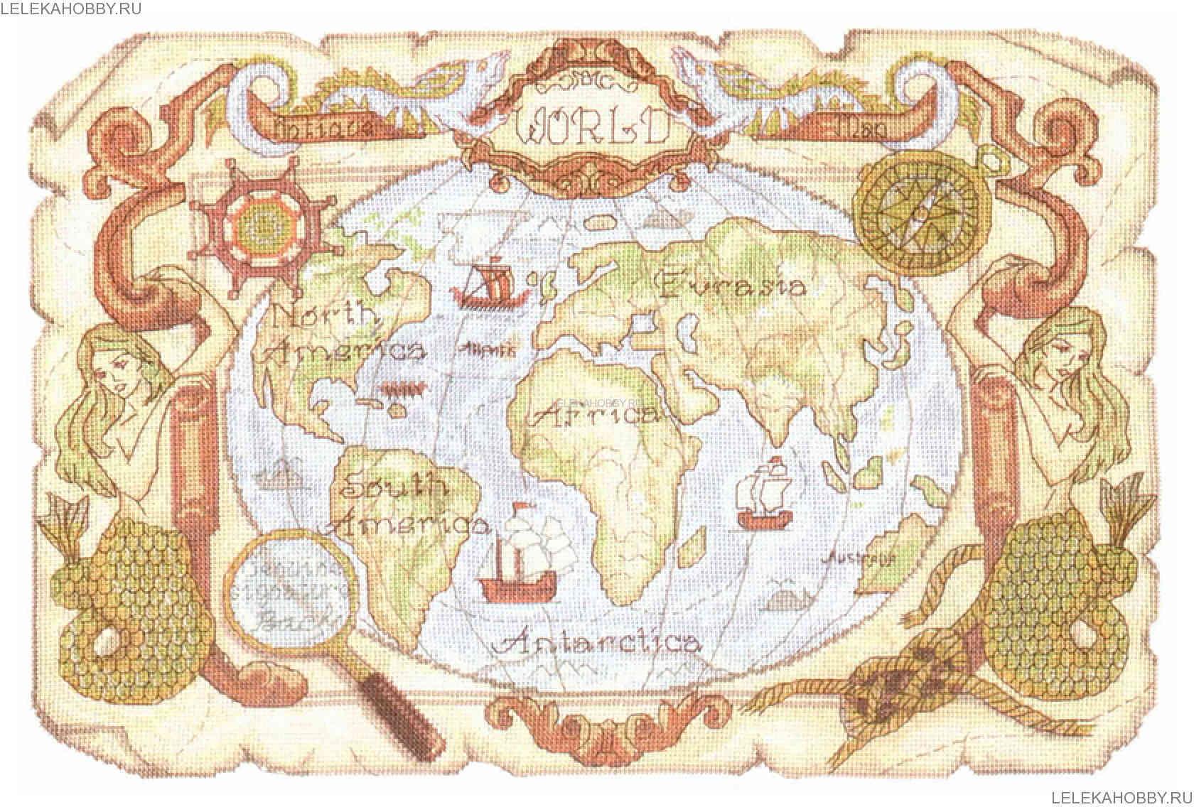 PANNA Старинная карта,