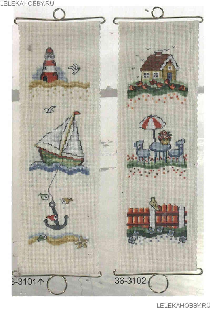 схема крестом морская тема