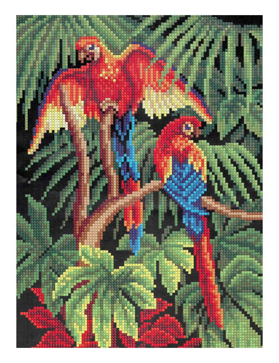 Наборы для вышивки крестом попугаи