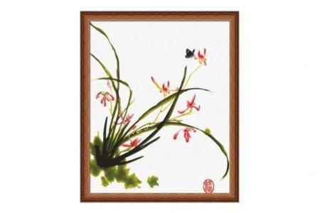 Раскраска по номерам Fresh Art Китайские цветы G213, 40 ...