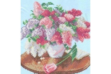 Вышивка крестом схемы цветы в вазе 80