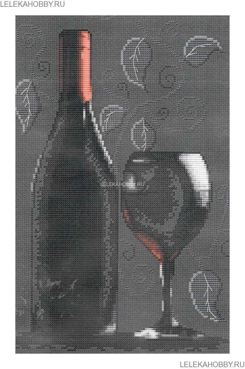 с красным вином, 20*29см