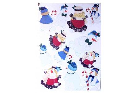 Бумага для декупажа двусторонняя Calambour, Снеговик, 50*70см