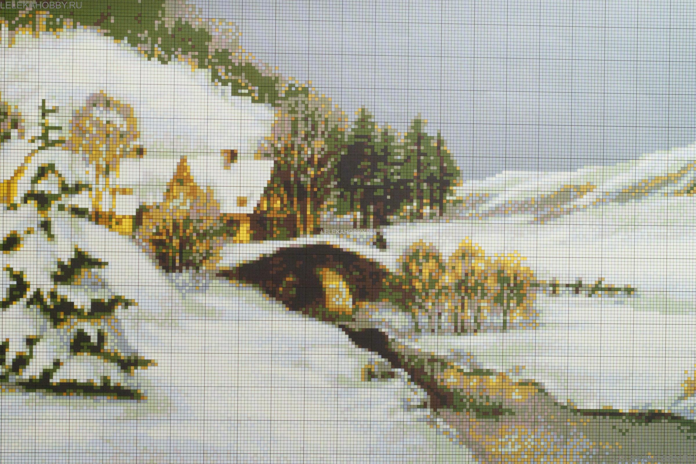 Цветные схемы вышивки крестом пейзажи