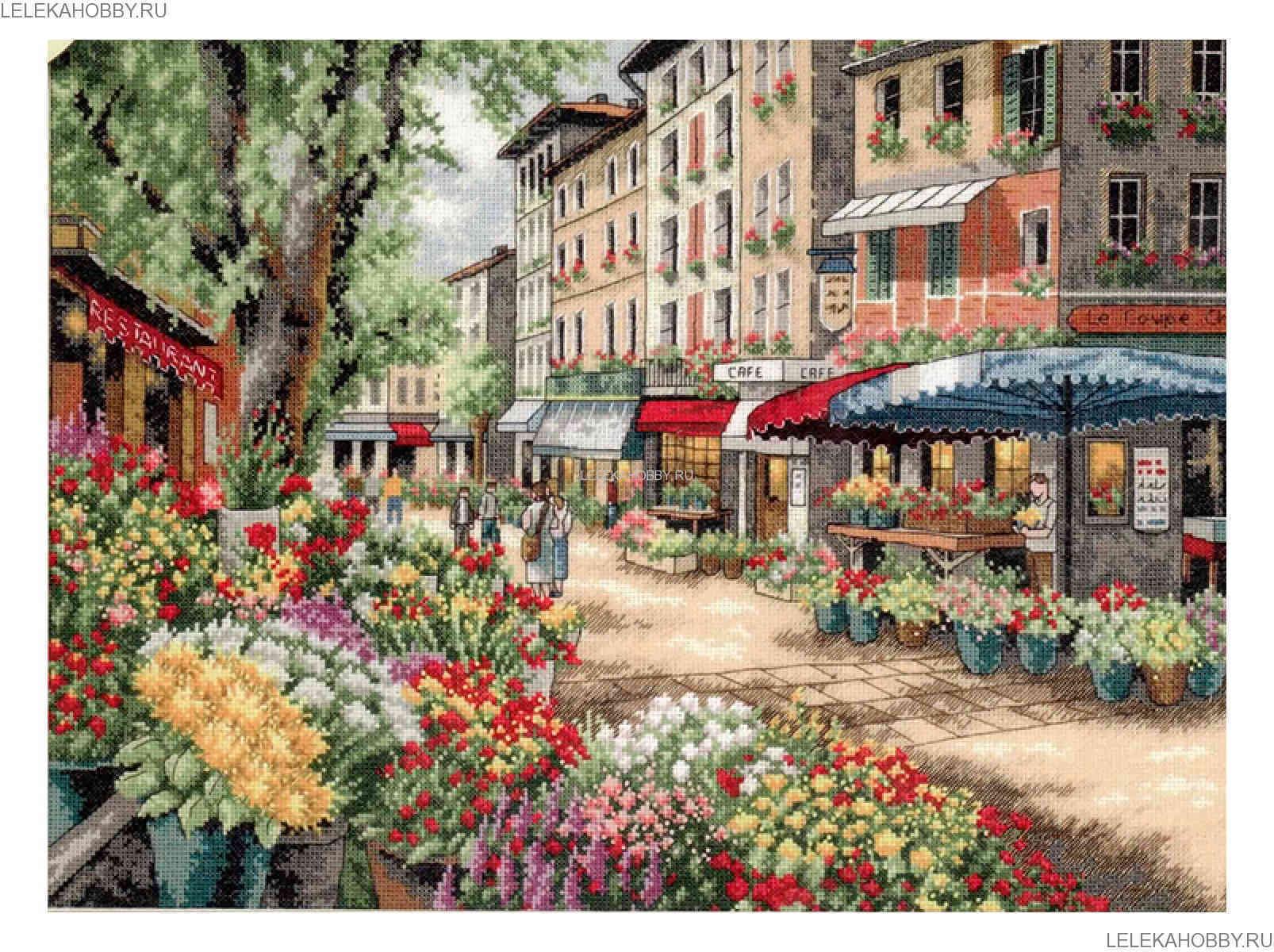 схема вышивки городских пейзажей