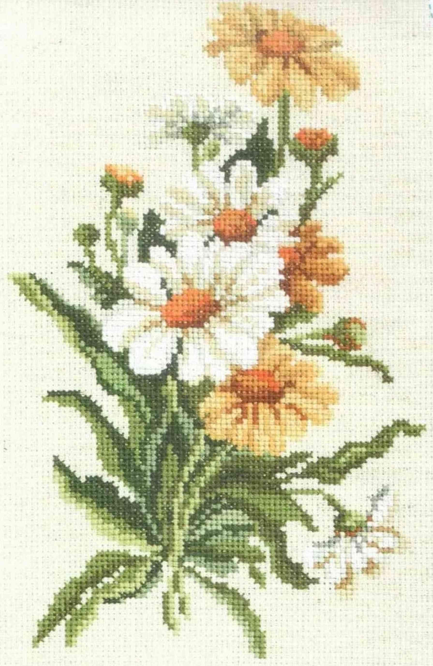 Вышивка крестом по льняной ткани