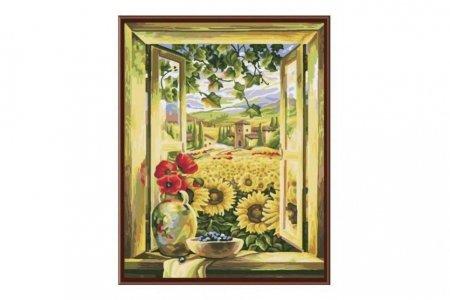 Раскраска по номерам Fresh Art Вид из окна GX6311, 40*50см ...
