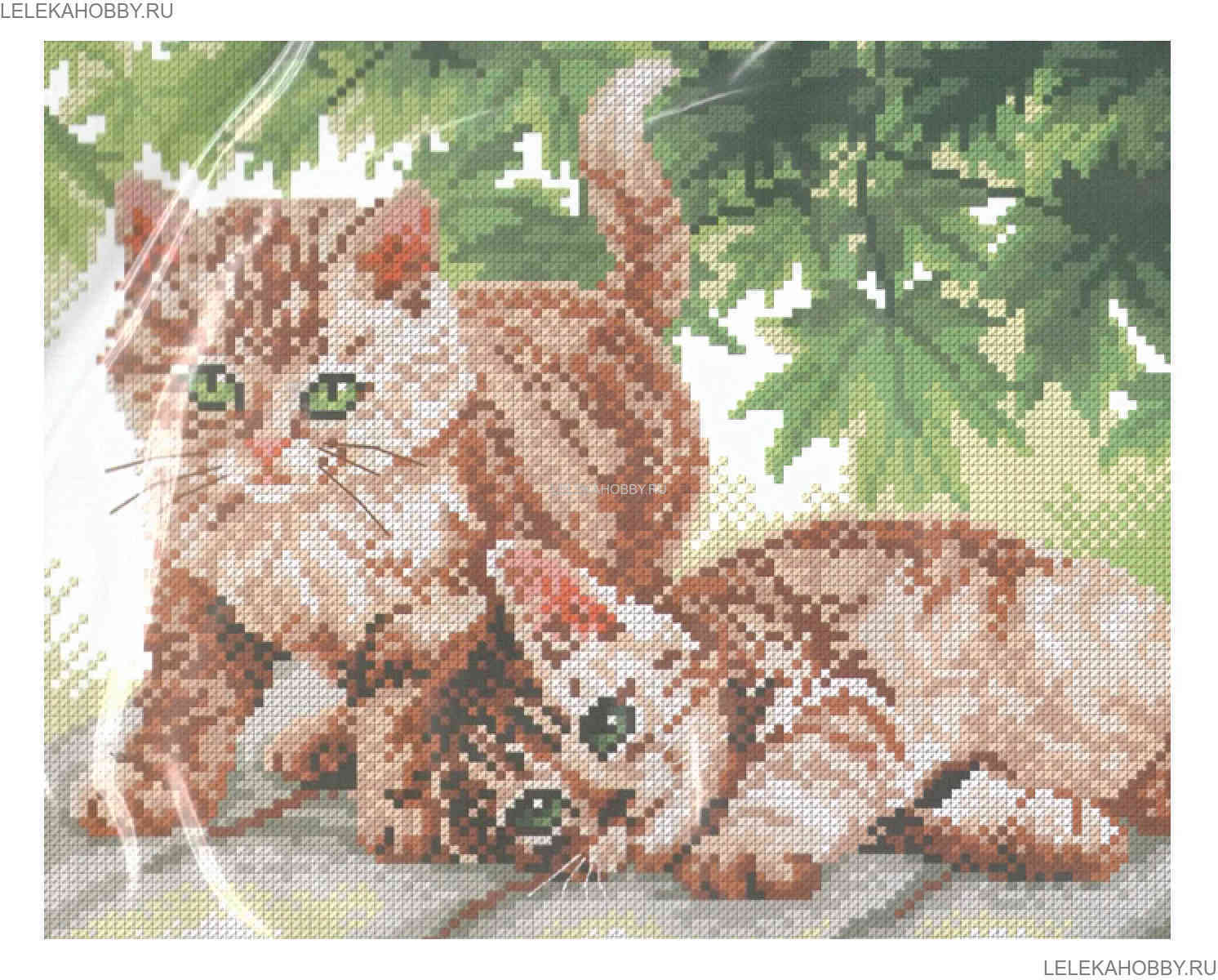 Искусница вышивка котята