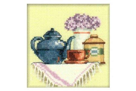 Вышивка крестом чашка для чая 195