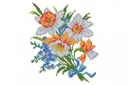 Вышивка бисером цветы матренин посад 5