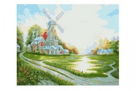 раскраска по номерам Fresh Art мельница G198 40 50см G198