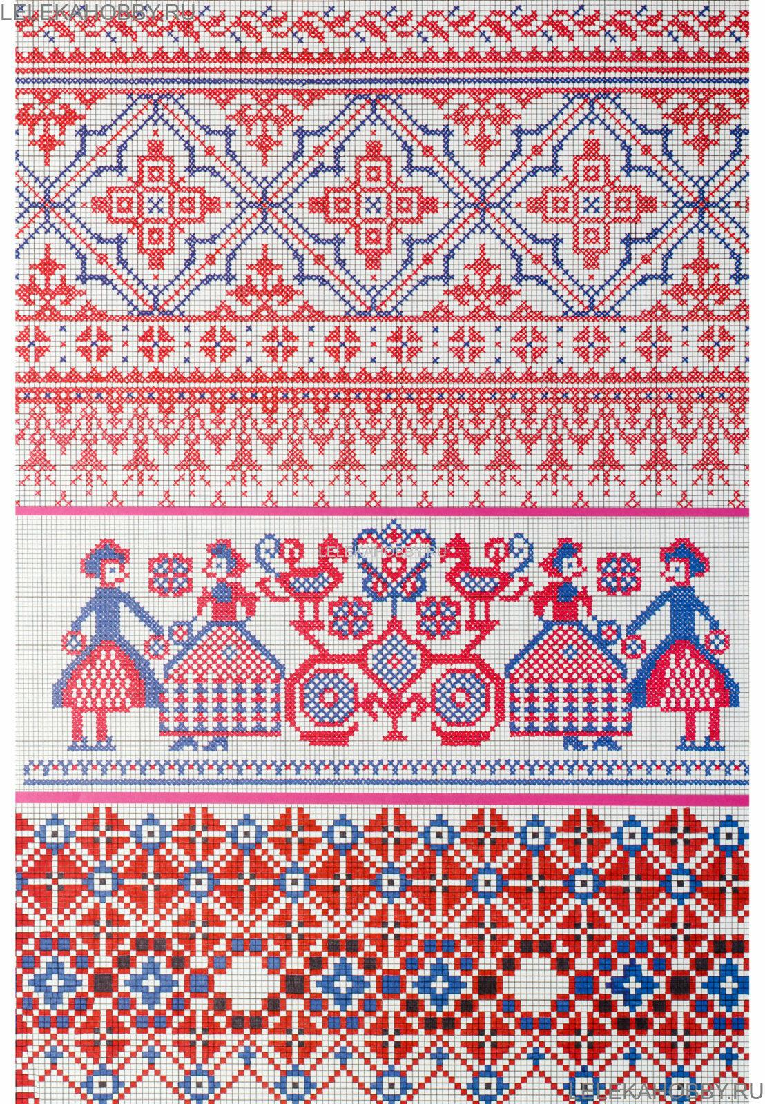 Вышивка в русском стиле крестом