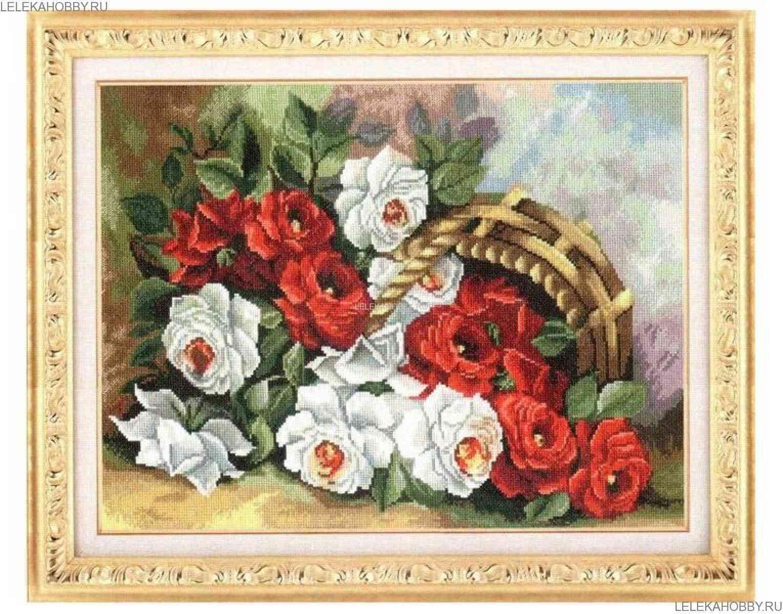 Схема вышивки золотое руно букет роз