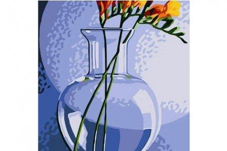 Раскраска по номерам БЕЛОСНЕЖКА Фрезия в вазе , 30*40см ...