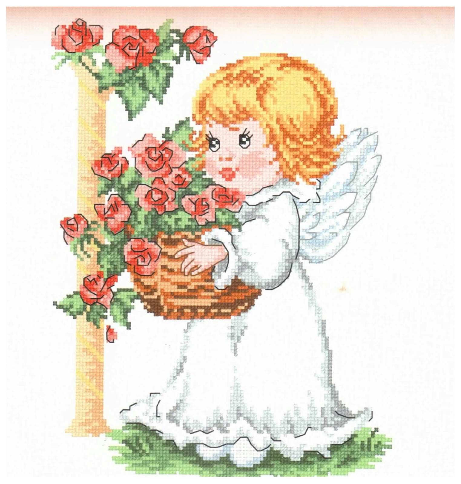 Наборы для вышивки ангелочки 68