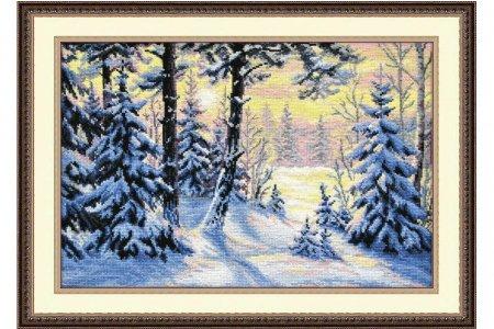 Зимний пейзаж схема для вышивки 377