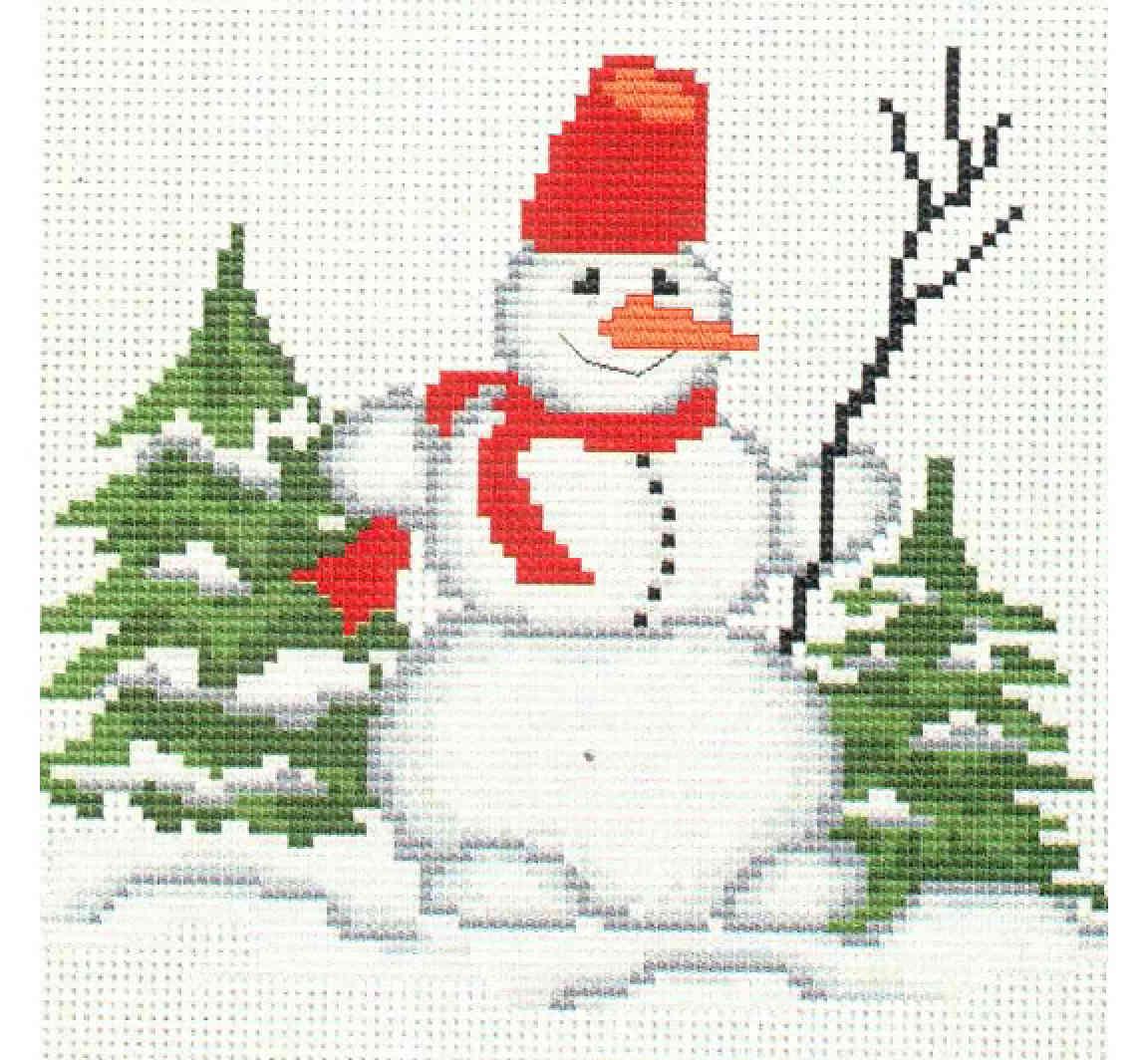 Вышивка крестом картин с изображением Деда Мороза 69