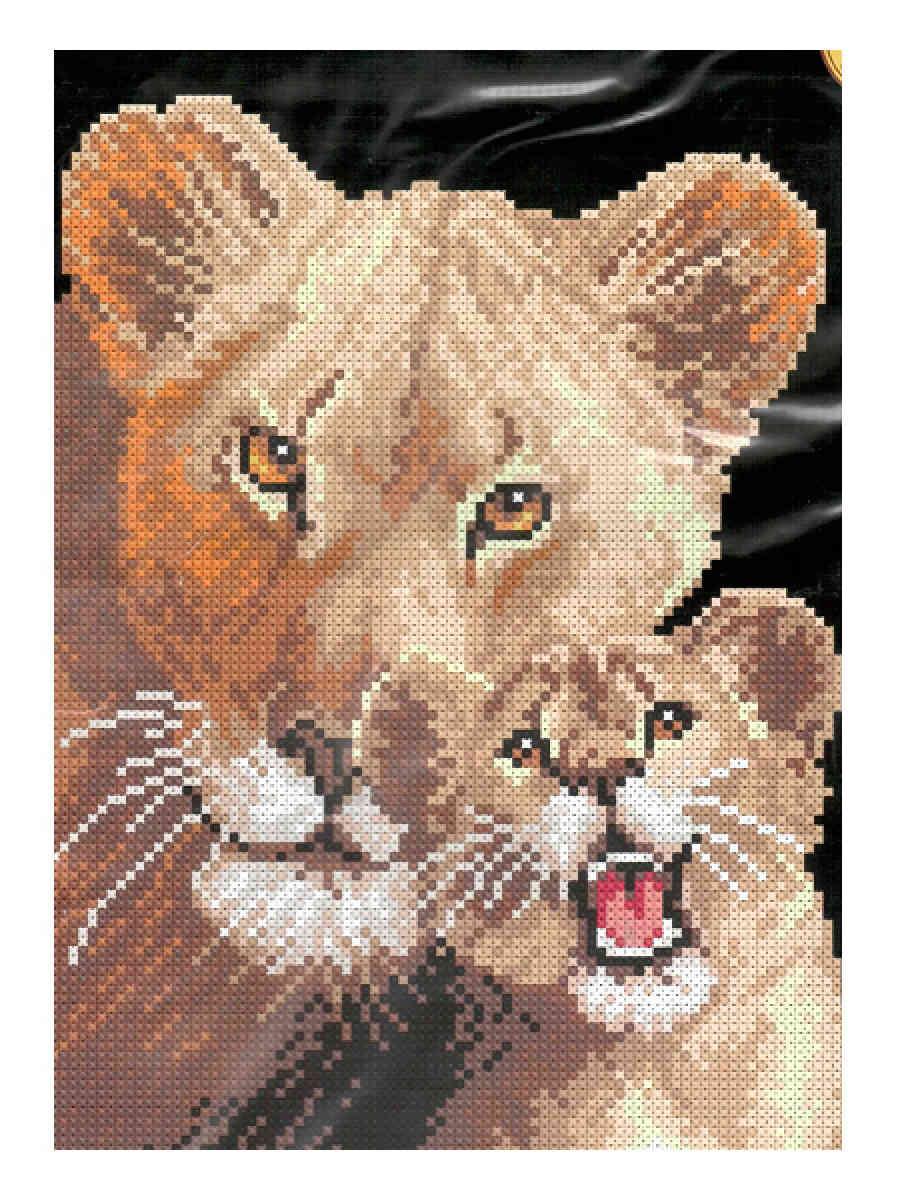 Львица и львенок, 18*25см
