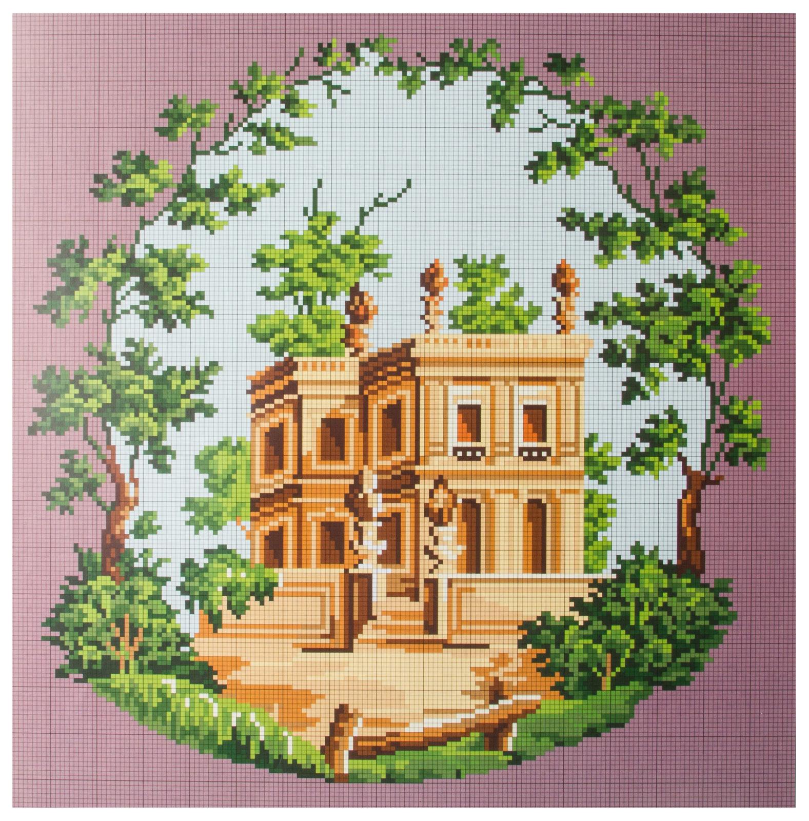 Схема вышивка крестиком дворец