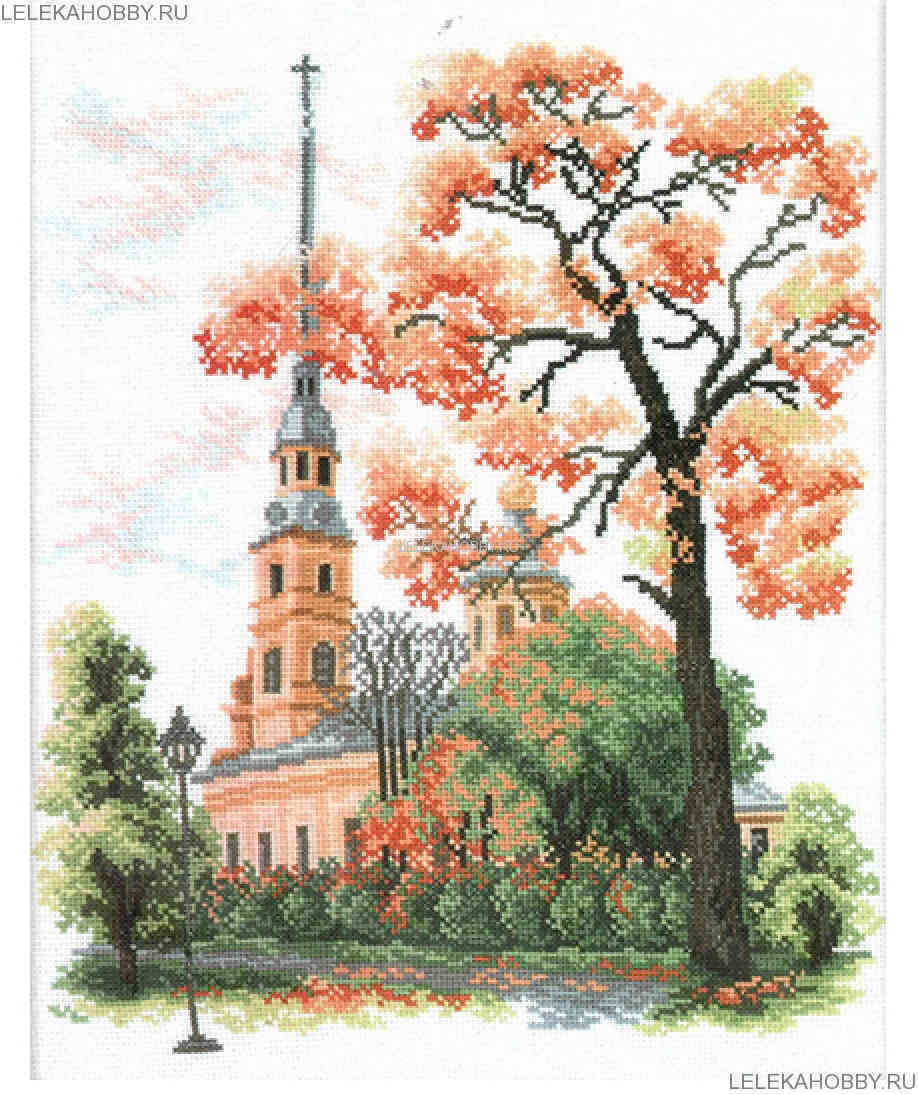 Набор для вышивки крестом РТО, Петропавловский собор г. Санкт-Петербург, 28*36см