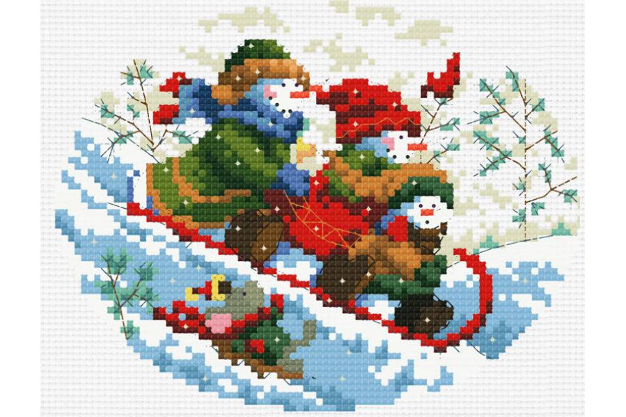 Купить наборы для вышивания на новогоднюю тематику от Riolis, каталог