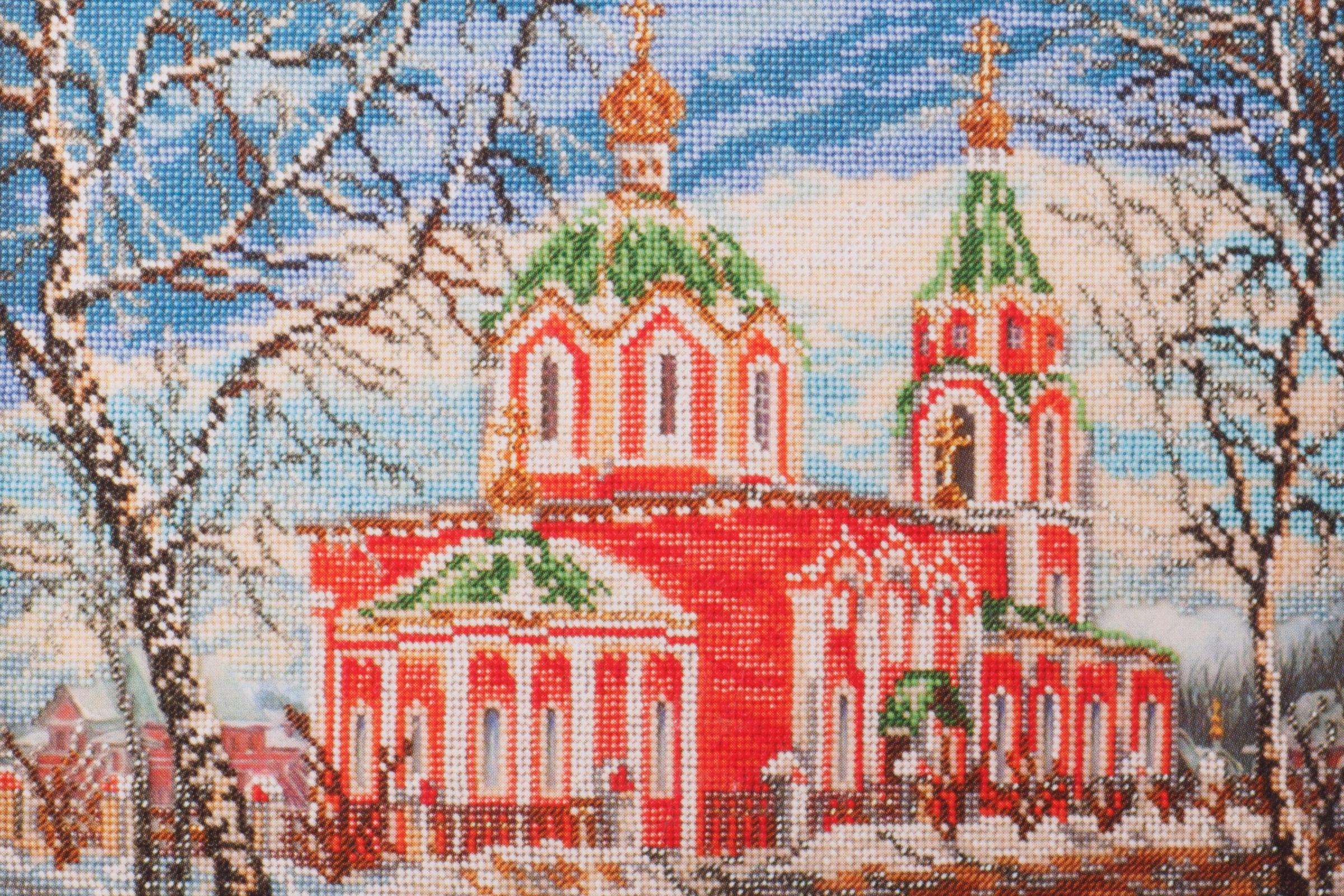 Вышивка бисером храма 71