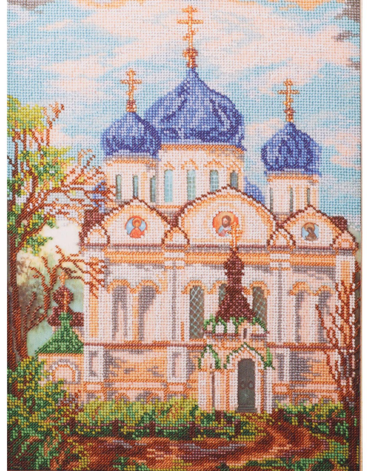 Вышивка бисером храма 19