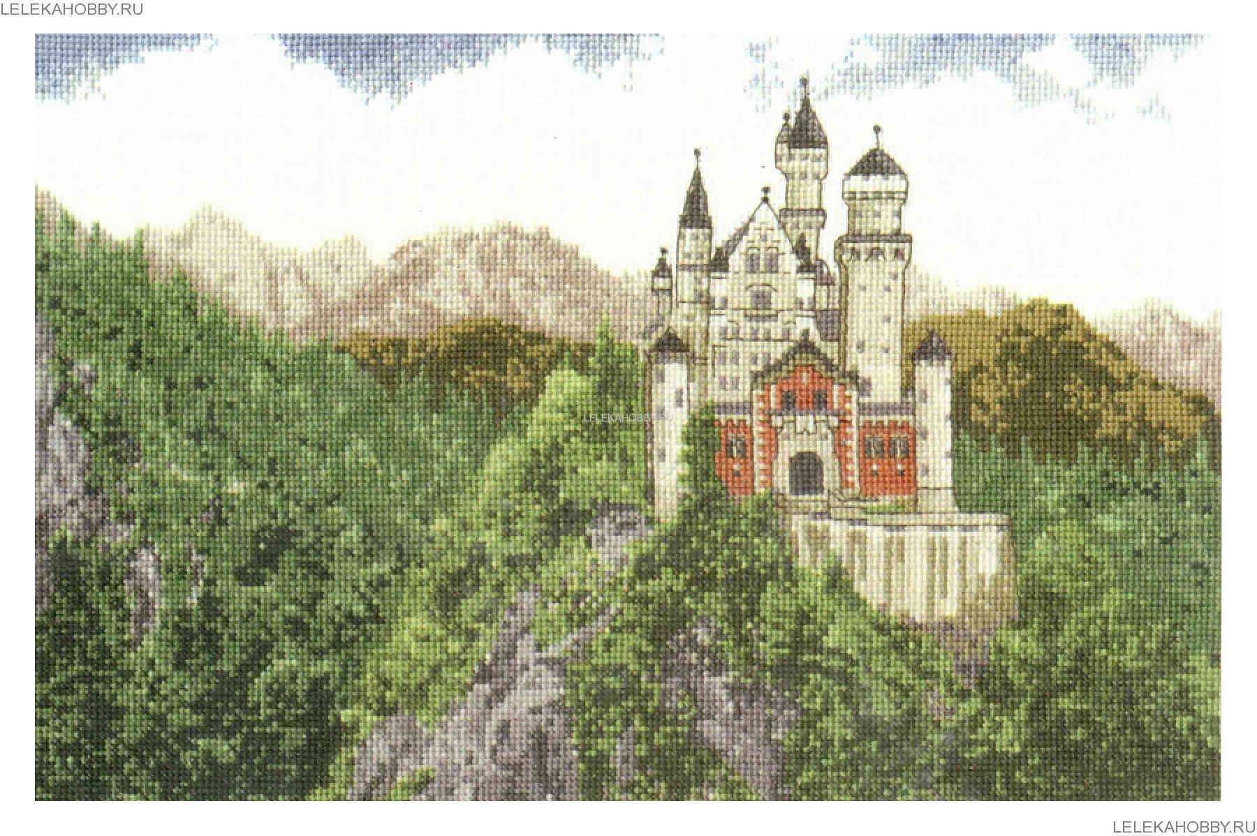 Замок нойшванштайн вышивка крестом набор