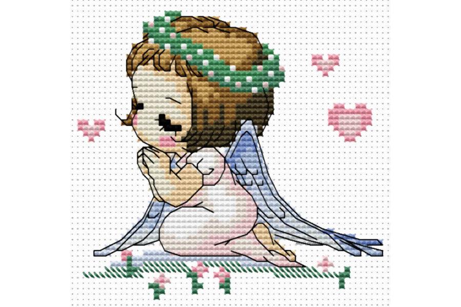 Наборы вышивка крестом ангелочки