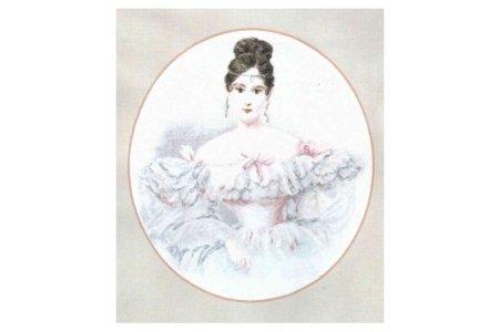 схема вышивки портрет лопухиной