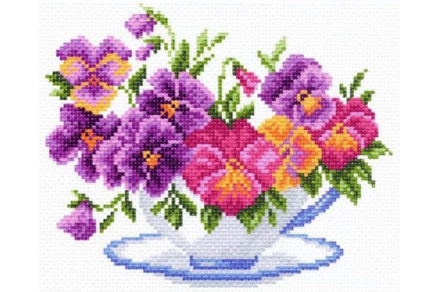 примеру, картинки цветки крестиком появление девушки картине